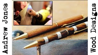 Turn Pens With A Drill And Hand Plane
