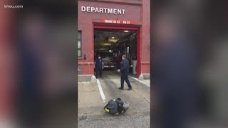 Chicago firefighter's retirement sendoff