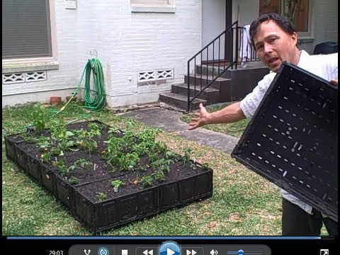 How To Build A Free Plastic Crate Raised Bed Garden Youtube