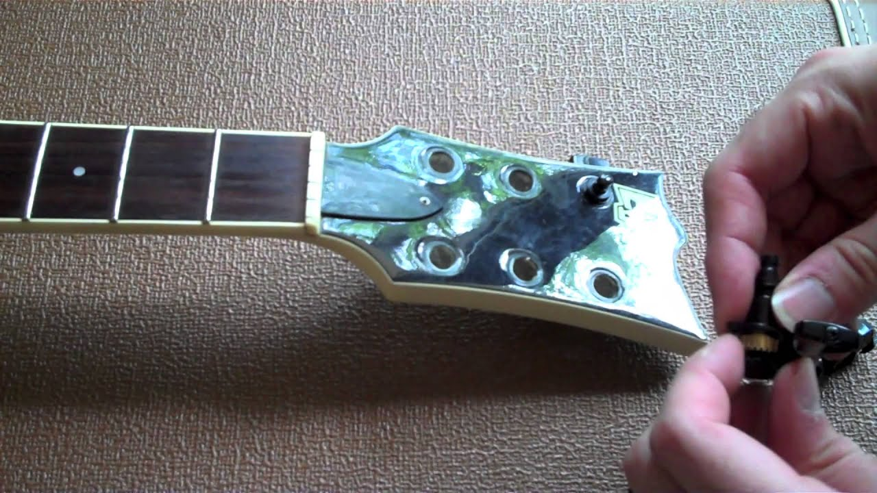 How to Install Guitar Tuners - YouTube