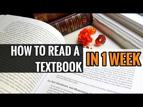How to Read a Textbook in 1 Week