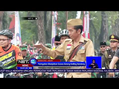 Presiden Jokowi Gowes Sepeda Bareng Setelah Upacar Hari Pahlawan Di Bandung