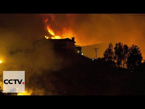 U.S. Wildfires: Record heat fuels flames in California, Arizona ...