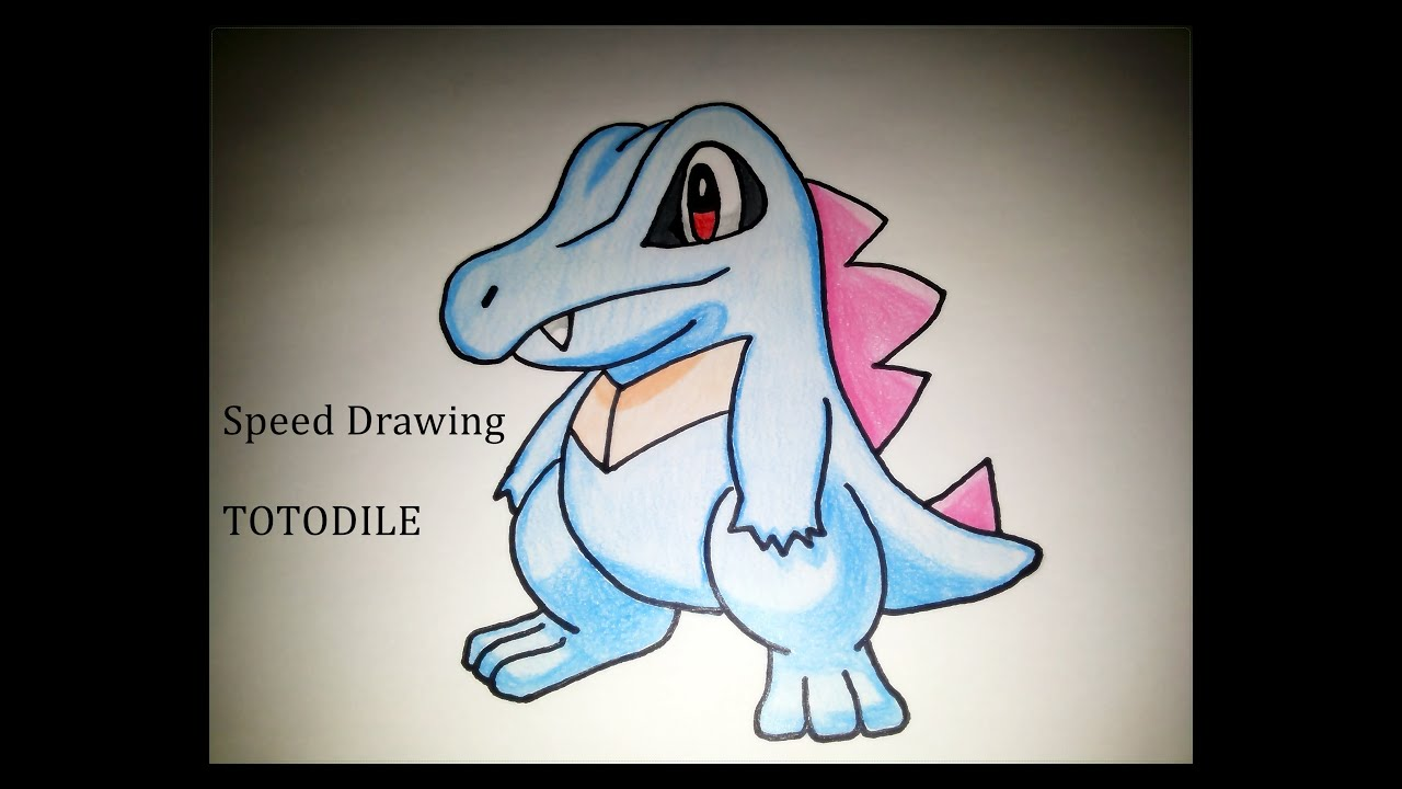 Uncategorized How To Draw Totodile speed drawing totodile pokemon how to draw youtube