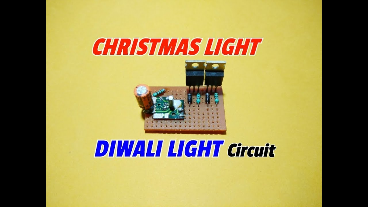 Amazing Christmas Lightdiwali Lightsimple Flasher Light Circuit Simple Led Flashing Using Opamp Diwali Old Clock