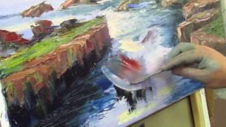 Игорь Сахаров, уроки живописи для начинающих, школа живописи, научиться рисовать море