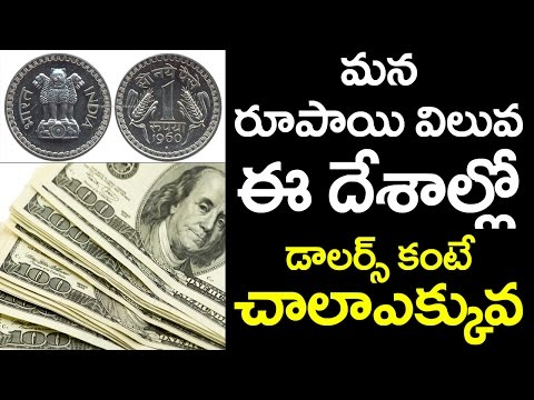 Countries where the Indian Rupee is Stronger than Dollars | VTube Telugu