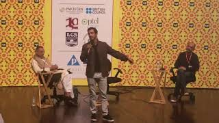 Riz Ahmed rapping at the Lahore Literary Festival February 24, 2018