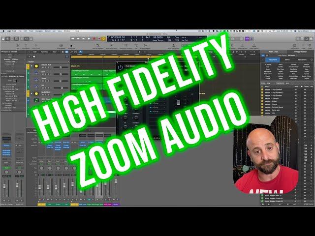 High fidelity audio in Zoom w Logic X, UA Console, & Loopback.