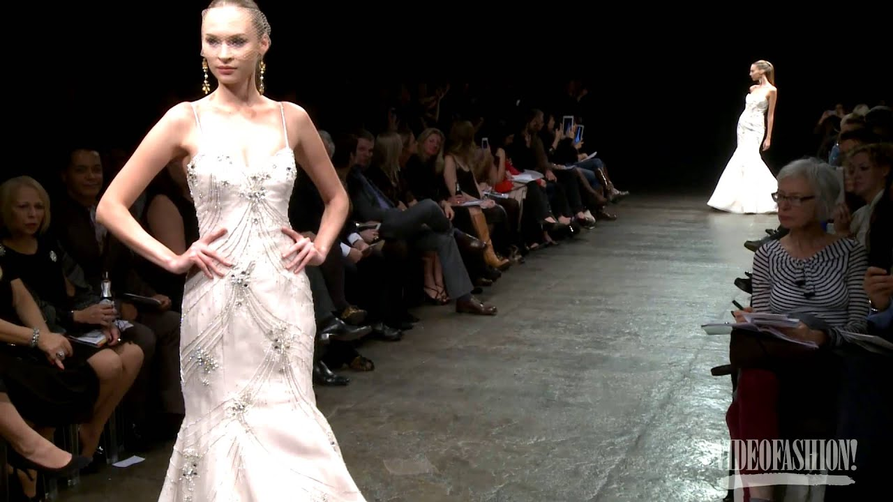 b6fcdf51c115 Lazaro Bridal Summer 2013 - Videofashion - YouTube