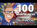 Burning Shadows 100 Booster Packs Opening Part 1 - Pokemon TCG
