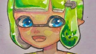 《アナログ》コピックでめっちゃ可愛いスプラトゥーンイラスト描いてみた!