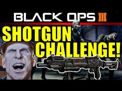 Black Ops 3 Zombies: SHOTGUN CHALLENGE | BO3 Funny Moments!
