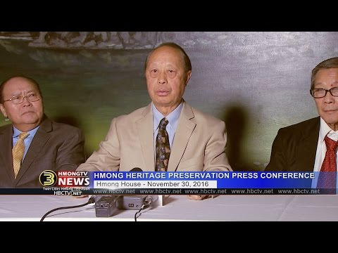 3 HMONG NEWS: (11/30/2016) Hmong Heritage Preservation Committee press conference.