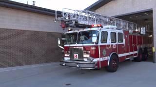 Aurora Colorado Fire Station #14 - Live Response to Emergency 911 Call