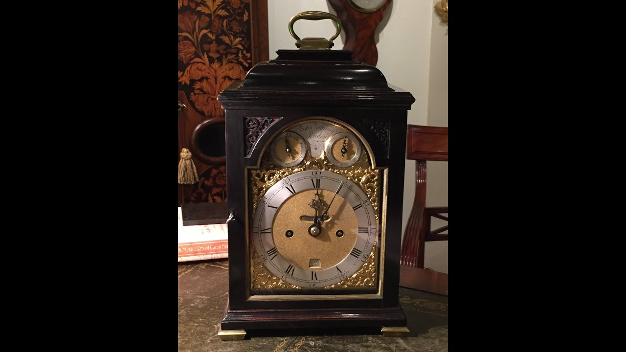 Vulliamy Antique Bracket Clock Youtube