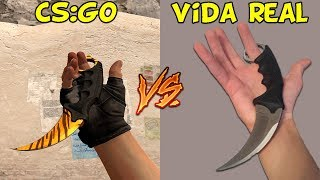 FACAS CS:GO VS. VIDA REAL