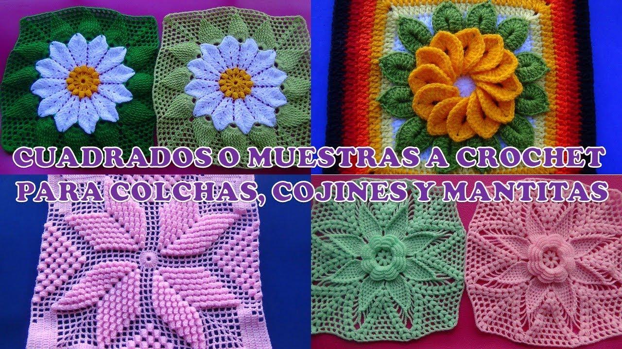 Cuadrados Grany Square O Muestras A Crochet Para Colchas Cojines
