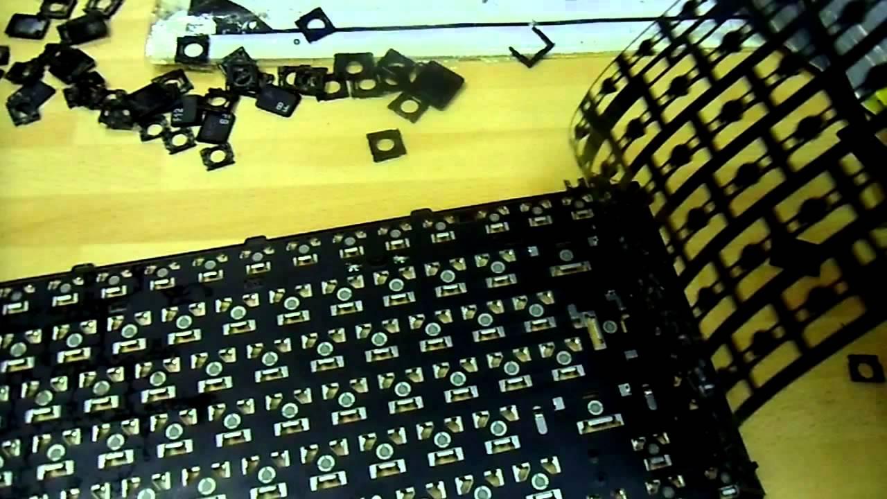 Repairing Laptop Keyboard Keys And Print Circuit Sheet