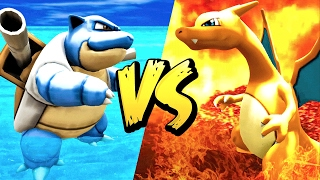 CHARIZARD VS BLASTOISE! (Ark Pokemon)