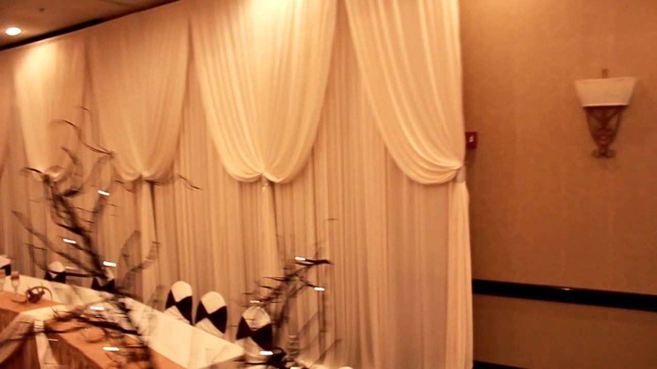 beautiful head table backdrop for wedding reception event decor rental chicago suburbs youtube. Black Bedroom Furniture Sets. Home Design Ideas