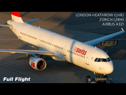 Swiss Full Flight | London Heathrow to Zurich | Airbus A321 ***With ATC***