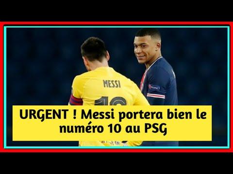 URGENT ! Messi portera bien le numéro 10 au PSG