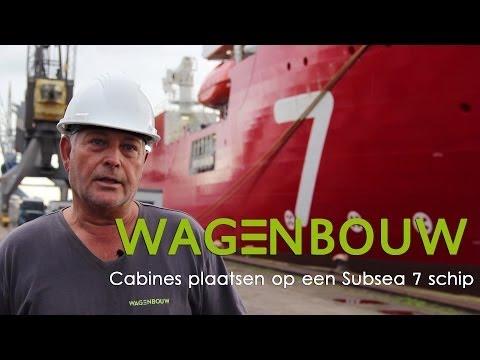 Wagenbouw plaatst cabines op een Subsea 7 schip