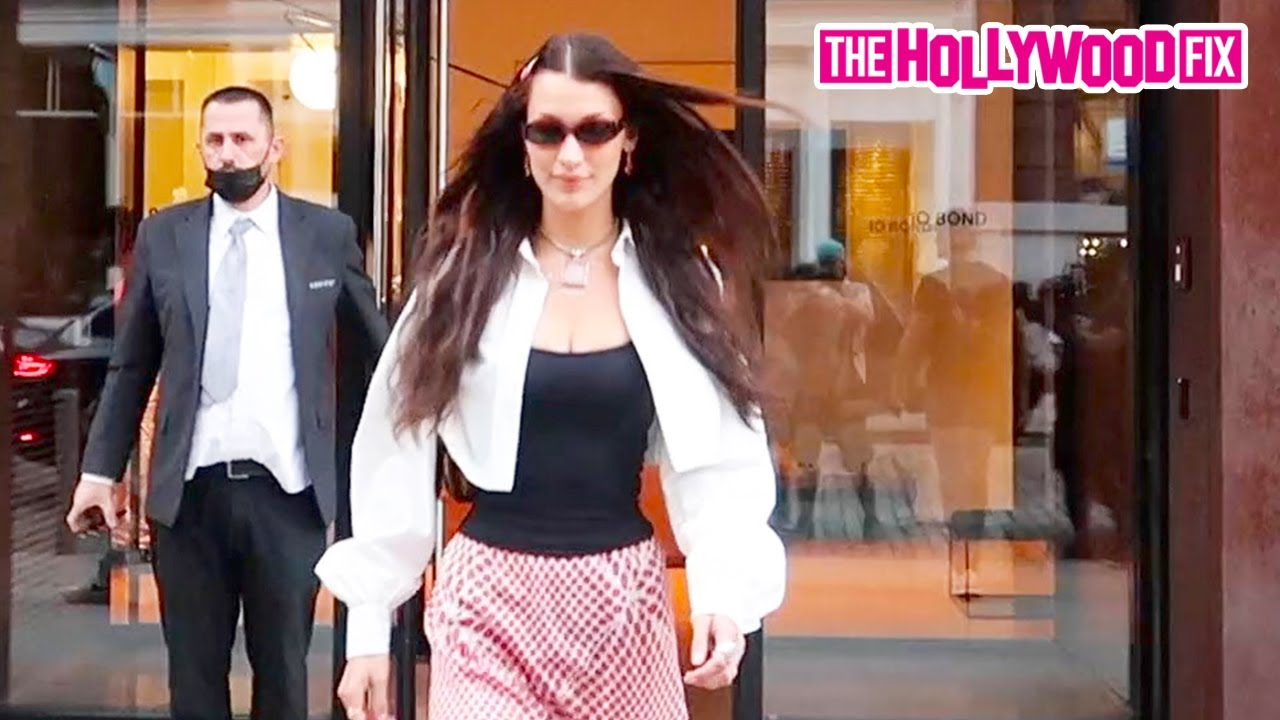 Bella Hadid Leaves Her Sister Gigi's Apartment After Attending Her Niece Khai Malik's Birthday Party