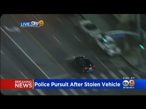 Smart Guy Escapes LA Police chase!
