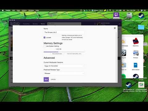 Change memory usage on in minecraft mods when using the twitch app