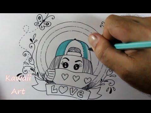 Como Desenhar Garotinha Tumblr Kawaii Passo A Passo Youtube