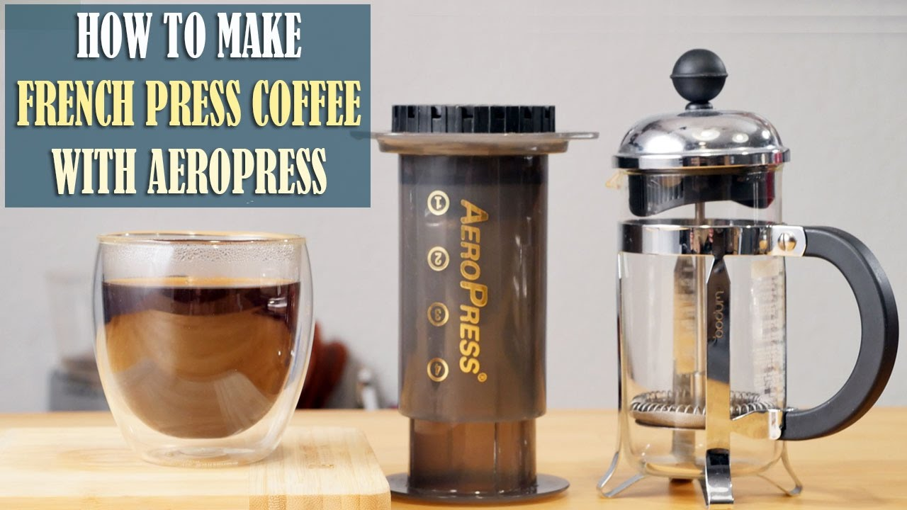 Coffee Genius How To Make French Press Coffee With Aeropress Youtube