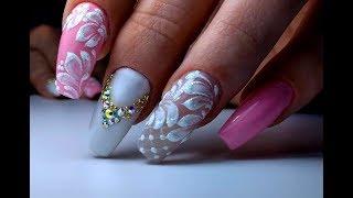 Самый Нежный  Дизайн Ногтей Вензеля Цветы | The Coolest Winter Nail Design