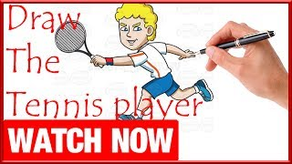 How To Draw The Tennis player - Learn To Draw - Art Space