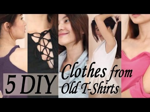 5 DIY Clothes From Old T-Shirts   Venezia Lowis