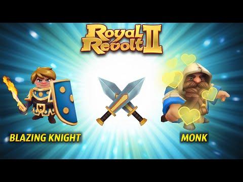 Royal Revolt 2 - Troop Combo: Blazing Knight + Monk!