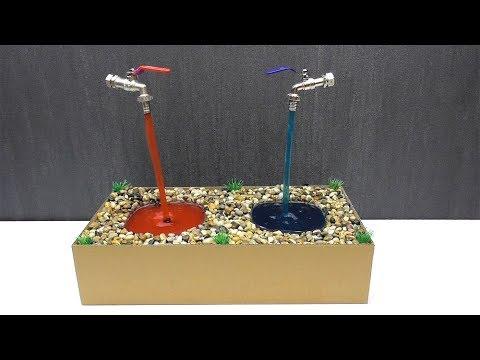 Как сделать парящий кран фонтан