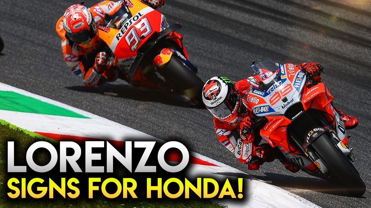 Motogp 2018 News Lorenzo Signs For Honda In 2019 And 2020