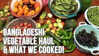 BANGLADESHI VEGETABLES HARVEST & THE CURRIES WE COOKED! #Bangladeshi