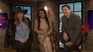 "Sabrina Britt & Asia Saffold on E!'s ""Hollywood & Football"" Behind The Velvet Rope with Arthur Kade"