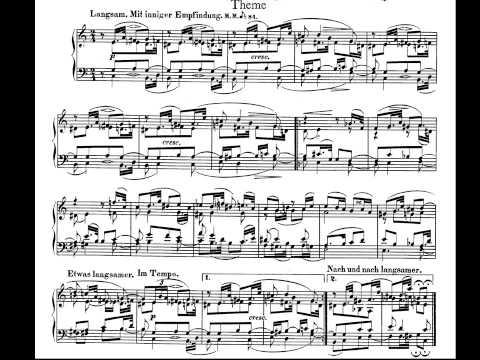 Schumann. Album For The Young Op. 68. 34- Theme Partitura E Interpretación