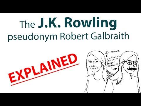 J.K. Rowling pseudonym Robert Galbraith saga explained