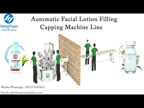 Automatic 200 Ml Facial Emulsion  Filling Capping Machine   Rotating Disc Type Filling Equipment