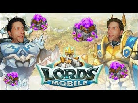 Lords Mobile! Guildfest Gifts And Spending Some Gems.