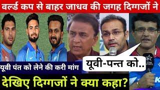 देखिये,Yuvraj-Pant को वर्ल्डकप खिलाने पर Gavaskar,Ganguly,Sehwag ने BCCI से की होश उड़ने वाली मांग