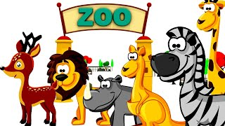 Zoo Animals for children - Animal Names for Kids - wild animals at the zoo - ZOO