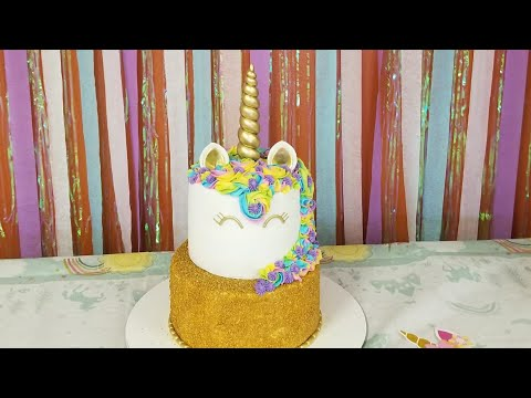 Unicorn cake!🦄/pastel de unicornio tutorial 😚😚😊😊😁😁😍😍🤗🤗