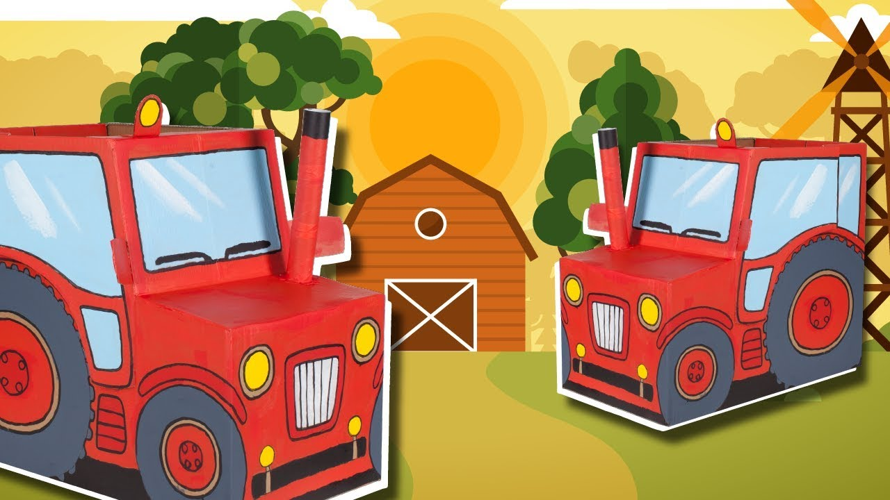 Tractor Funny Diy Craft Ideas With Boxes Kids Diy On Box
