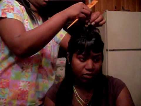 27 Piece Hair Style Short On Top Long In The Back Tutorial Youtube